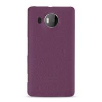 Кожаный чехол накладка (нат. кожа) серия Back Cover для Microsoft Lumia 950 XL Фиолетовый