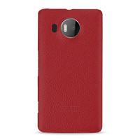 Кожаный чехол накладка (нат. кожа) серия Back Cover для Microsoft Lumia 950 XL Красный