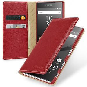 Кожаный премиум чехол портмоне (нат. кожа) для Sony Xperia Z5 Premium
