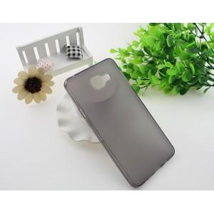 Силиконовый матовый полупрозрачный чехол для Samsung Galaxy A7 (2016) Серый