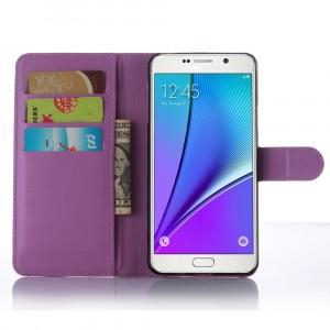 Чехол портмоне подставка с магнитной защелкой для Samsung Galaxy A7 (2016) Фиолетовый