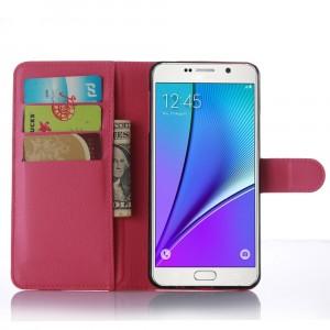 Чехол портмоне подставка с магнитной защелкой для Samsung Galaxy A7 (2016) Пурпурный