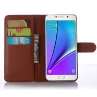 Чехол портмоне подставка с защелкой для Samsung Galaxy A7 (2016) Коричневый