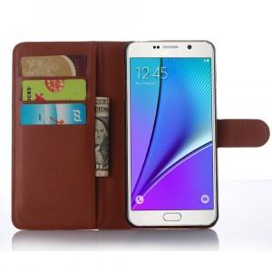 Чехол портмоне подставка с магнитной защелкой для Samsung Galaxy A7 (2016) Коричневый