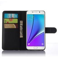 Чехол портмоне подставка с защелкой для Samsung Galaxy A7 (2016) Черный