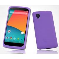 Премиум софт-тач силиконовый чехол для Google Nexus 5 Фиолетовый