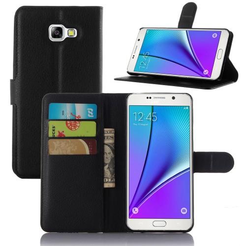 Чехол портмоне подставка на силиконовой основе с отсеком для карт и магнитной защелкой для Samsung Galaxy A5 (2016)