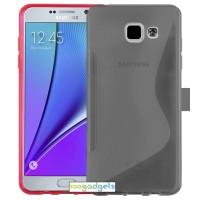 Силиконовый S чехол для Samsung Galaxy A5 (2016) Серый