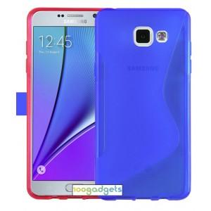 Силиконовый S чехол для Samsung Galaxy A5 (2016) Синий