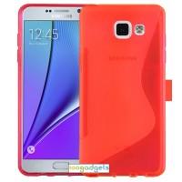 Силиконовый S чехол для Samsung Galaxy A5 (2016) Красный