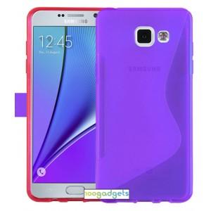 Силиконовый S чехол для Samsung Galaxy A5 (2016) Фиолетовый