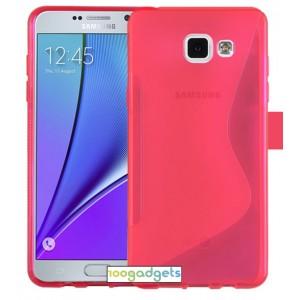 Силиконовый S чехол для Samsung Galaxy A5 (2016) Розовый