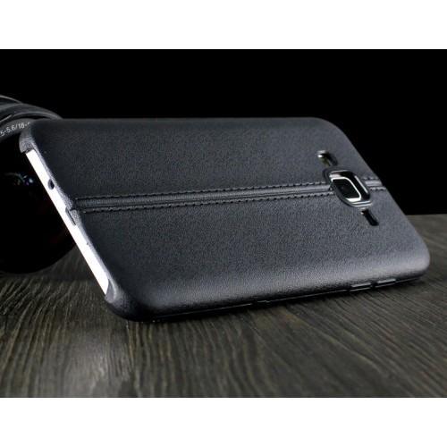 Силиконовый матовый непрозрачный чехол с текстурным покрытием Шов для Samsung Galaxy J5