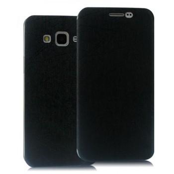 Чехол флип подставка текстура Линии на пластиковой основе и на присоске для Samsung Galaxy J5
