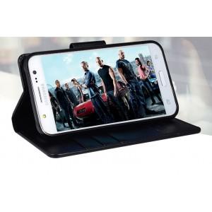 Чехол портмоне подставка на силиконовой основе и на магнитной защелке для Samsung Galaxy J5 Черный