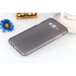 Силиконовый матовый полупрозрачный чехол для Samsung Galaxy J5 Серый