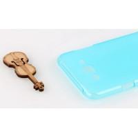 Силиконовый матовый полупрозрачный чехол для Samsung Galaxy J5 Голубой