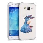 Силиконовый глянцевый полупрозрачный чехол с принтом для Samsung Galaxy J5