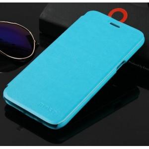 Чехол флип подставка на пластиковой основе для Samsung Galaxy J5 Голубой