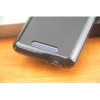 Силиконовый матовый полупрозрачный чехол для Philips Xenuim V526 Черный