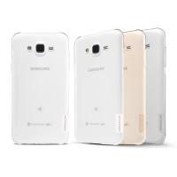Силиконовый глянцевый полупрозрачный чехол с улучшенной защитой элементов корпуса для Samsung Galaxy J5