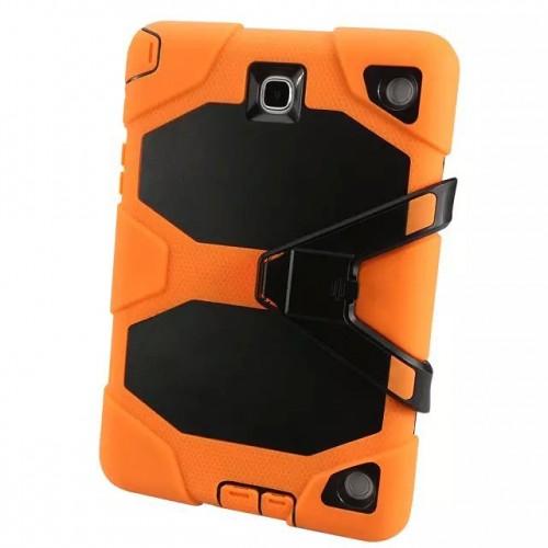 Противоударный двухкомпонентный силиконовый чехол с поликарбонатными вставками для экстрим защиты и ножкой-подставкой для Samsung Galaxy Tab A 9.7