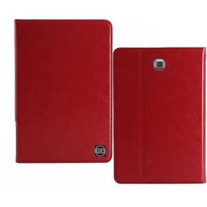 Кожаный чехол подставка на поликарбонатной непрозрачной основе для Samsung Galaxy Tab A 9.7 Красный