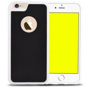 Эксклюзивный двухкомпонентный противоударный чехол силикон/поликарбонат с липучей задней поверхностью для Iphone 6/6s