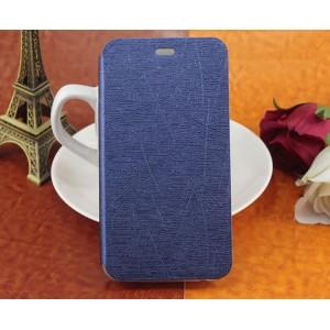 Текстурный чехол флип подставка для Phicomm Clue 630 Синий