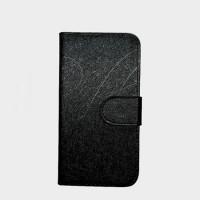 Чехол флип подставка на силиконовой основе с отделением для карт текстура Линии для Phicomm Energy 653 Черный