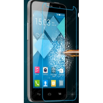 Ультратонкое износоустойчивое сколостойкое олеофобное защитное стекло-пленка для Alcatel One Touch Idol Mini