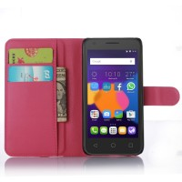 Чехол портмоне подставка с защелкой для Alcatel One Touch POP 3 5 Пурпурный