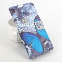 Дизайнерский чехол портмоне подставка на пластиковой основе с полноповерхностным принтом с отделением для карт для Alcatel One Touch POP 3 5