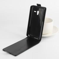 Глянцевый чехол вертикальная книжка на пластиковой основе с магнитной застежкой для Alcatel One Touch POP 3 5 Черный