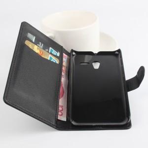 Чехол портмоне подставка с защелкой для Alcatel One Touch POP 3 5 Черный