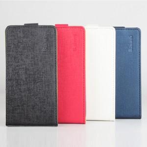 Текстурный чехол вертикальная книжка на пластиковой основе с магнитной застежкой для Alcatel One Touch POP 3 5