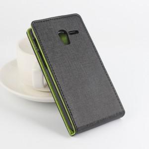 Текстурный чехол вертикальная книжка на пластиковой основе с магнитной застежкой для Alcatel One Touch POP 3 5 Черный