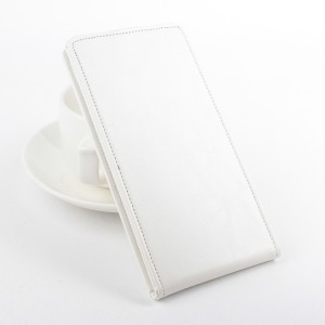 Чехол вертикальная книжка на силиконовой основе с магнитной застежкой для Alcatel One Touch Pixi 3 (4.5) Белый
