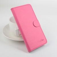 Чехол портмоне подставка с защелкой для Alcatel One Touch Pixi 3 (4.5) Пурпурный