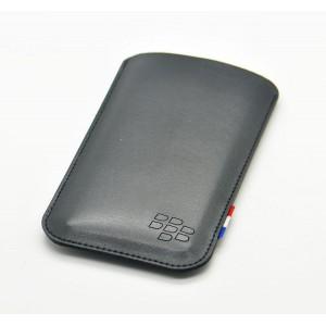 Кожаный мешок для Blackberry Priv Черный