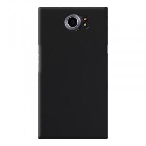Ультратонкий пластиковый матовый непрозрачный чехол для Blackberry Priv Черный