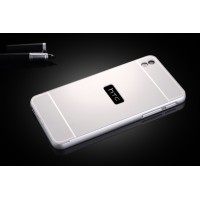 Двухкомпонентный чехол с металлическим бампером и поликарбонатной накладкой для HTC Desire 816 Белый