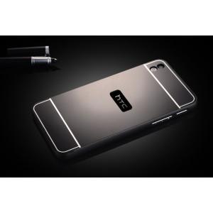 Двухкомпонентный чехол с металлическим бампером и поликарбонатной накладкой для HTC Desire 816 Черный