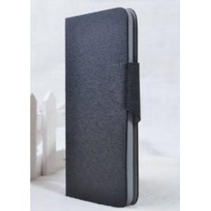 Текстурный чехол флип подставка на пластиковой основе с отделением для карт для HTC Desire 816