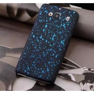 Пластиковый матовый дизайнерский чехол с голографическим принтом Звезды для Xiaomi RedMi 2 Голубой
