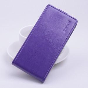 Чехол вертикальная книжка на силиконовой основе с магнитной застежкой для Xiaomi RedMi 2 Фиолетовый