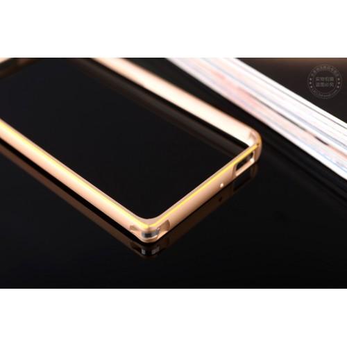 Металлический бампер с золотой окантовкой для Xiaomi RedMi 2