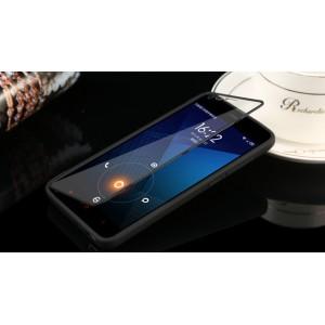 Силиконовый непрозрачный чехол горизонтальная книжка с пластиковой транспарентной крышкой для Xiaomi RedMi 2 Черный