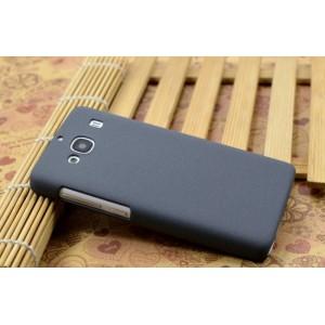 Пластиковый матовый чехол с повышенной шероховатостью для Xiaomi RedMi 2 Серый