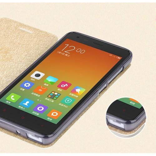 Текстурный чехол флип подставка на силиконовой основе для Xiaomi RedMi 2